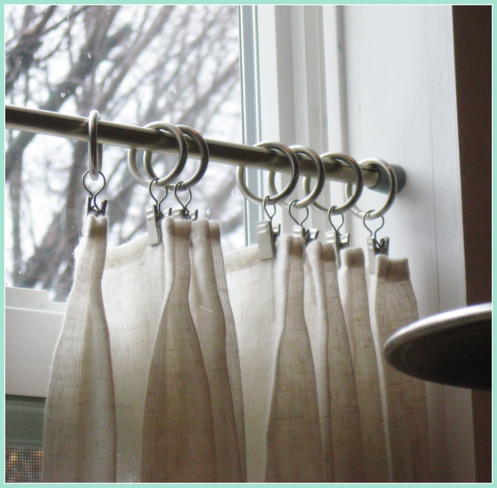 i wanted to share the new caf curtains i made for the window over the sink - Kitchen Cafe Curtains