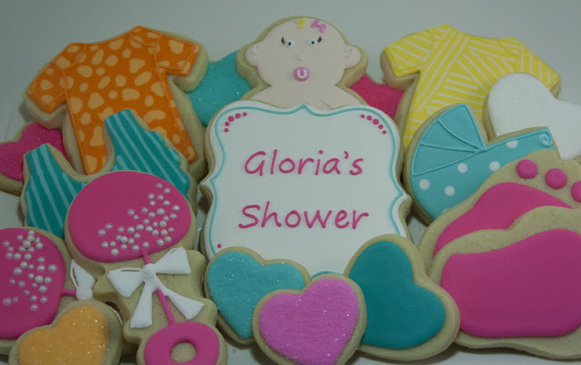 Baby shower cookie platter