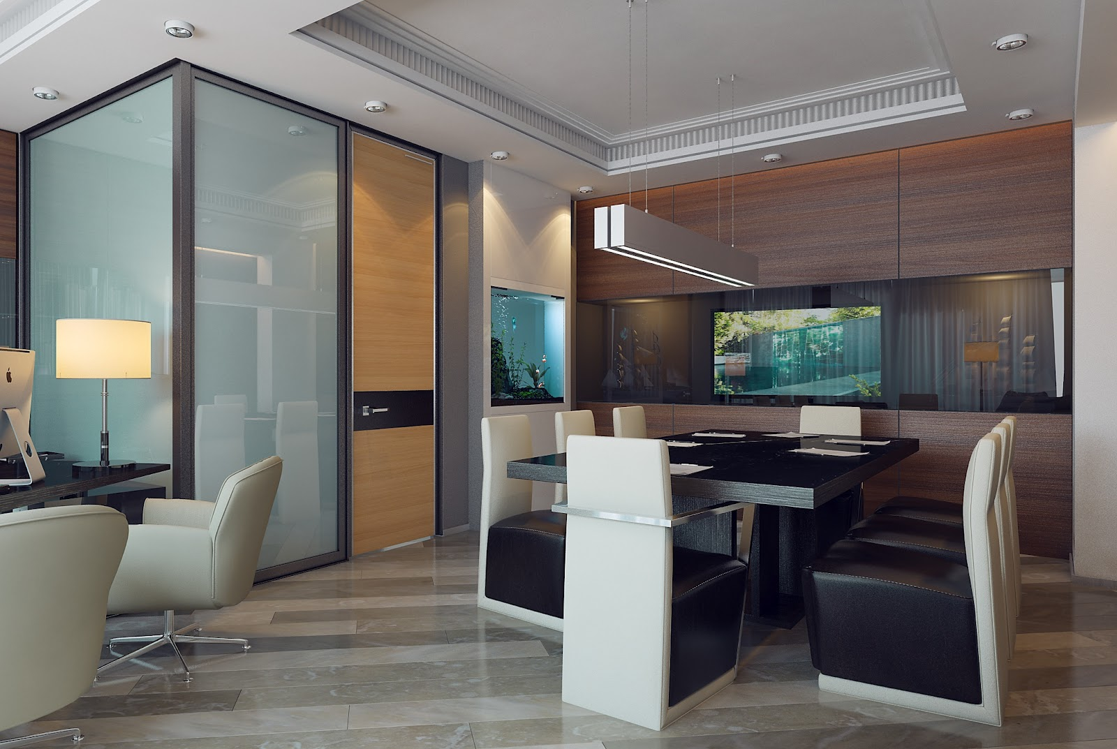 3d design office of executive director for Director office interior design