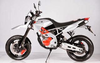 Yamaha Scorpio Z dengna modifikasi beraliran Supermoto