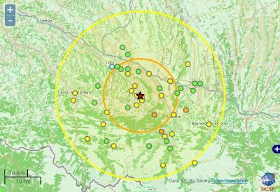 séisme de magnitude de 4,8 béarn