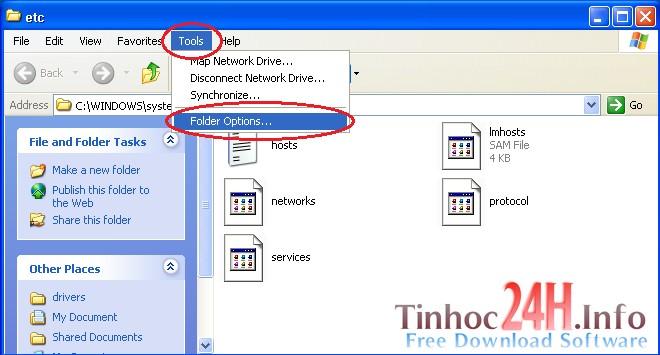 cách lưu file host trên windows xp 2
