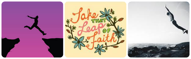 take that leap of faith, da ese salto de fe, no te quedes parado e inténtalo