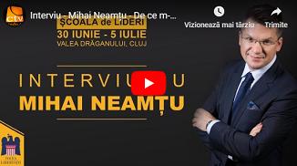 Credo TV: Mihai Neamțu - De ce m-am întors în România? Pariul libertății (Interviu)