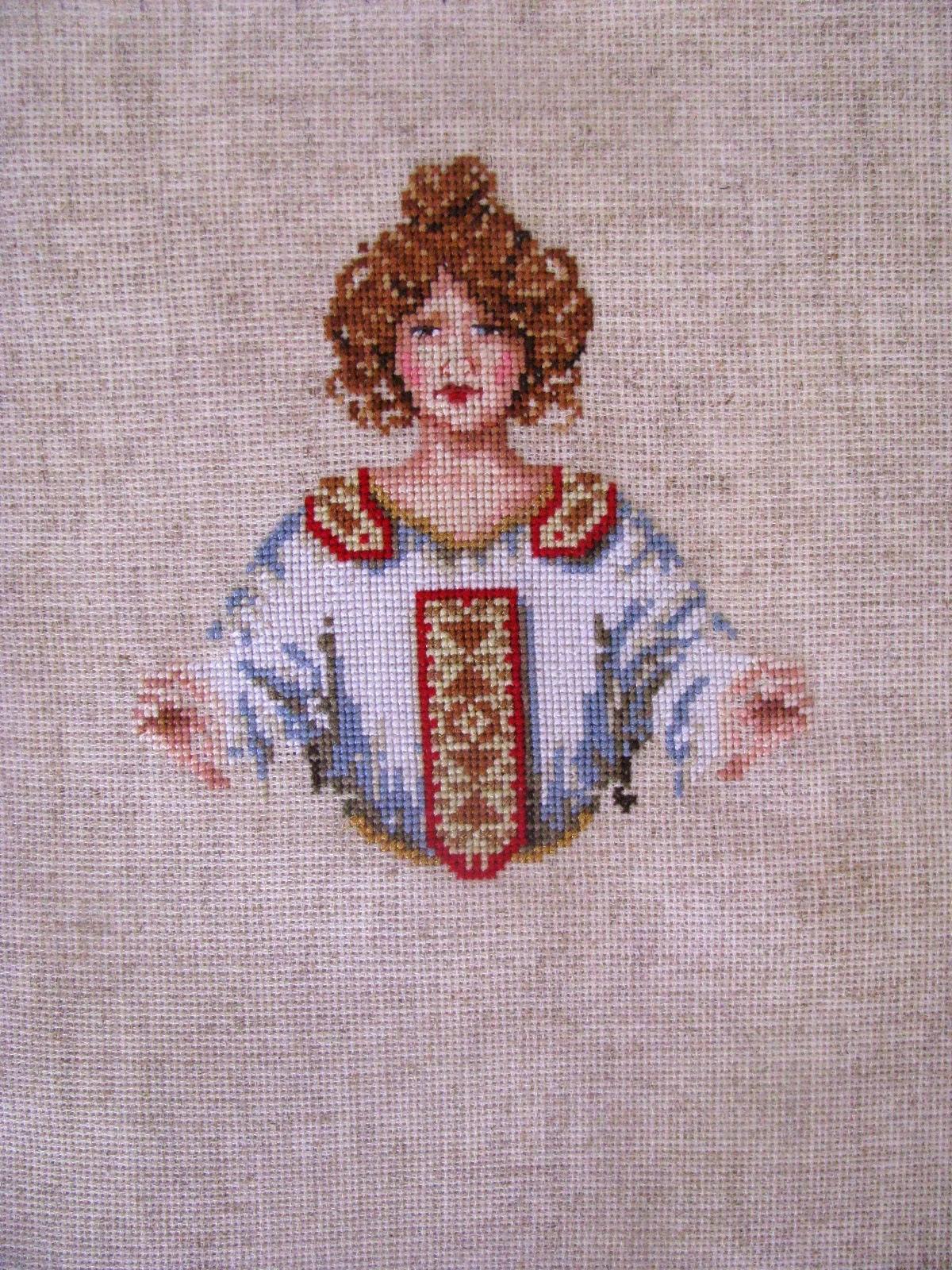 вышивка ангела