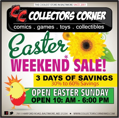 Collectors corner blog new arrivals collectors corner for Is there any shops open on easter sunday