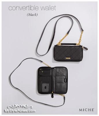 Miche Black Convertible Wallet