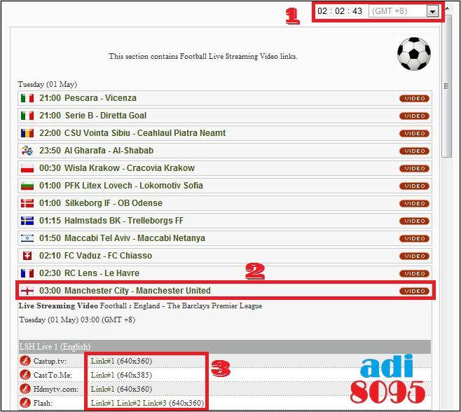Live Streaming Bola: I'm On Blog :: Adi8095: Live Streaming Football & Tonton
