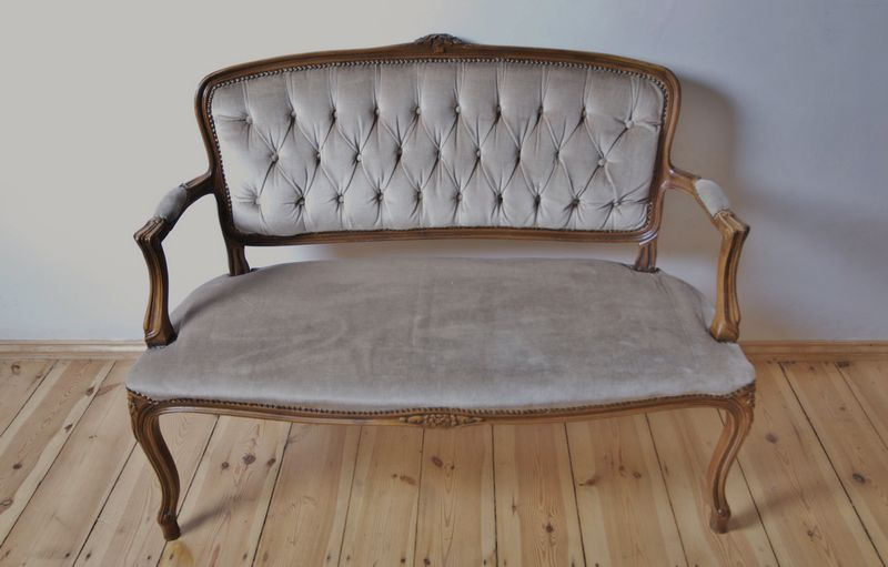 Antique 19th Century French Louis XV Style Sofa Loveseat