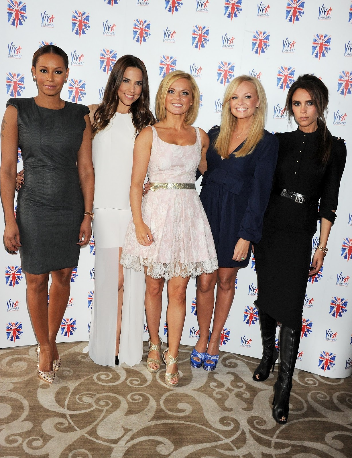Victoria Beckham Melanie Brown Chisholm Geri Halliwell And