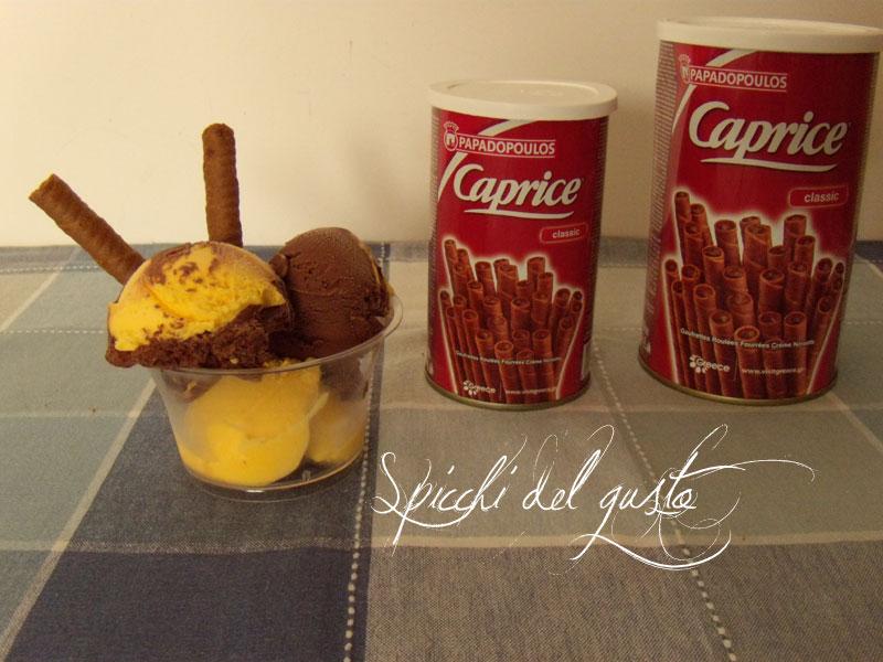 gelato bi-gusto zabaione e cioccolato
