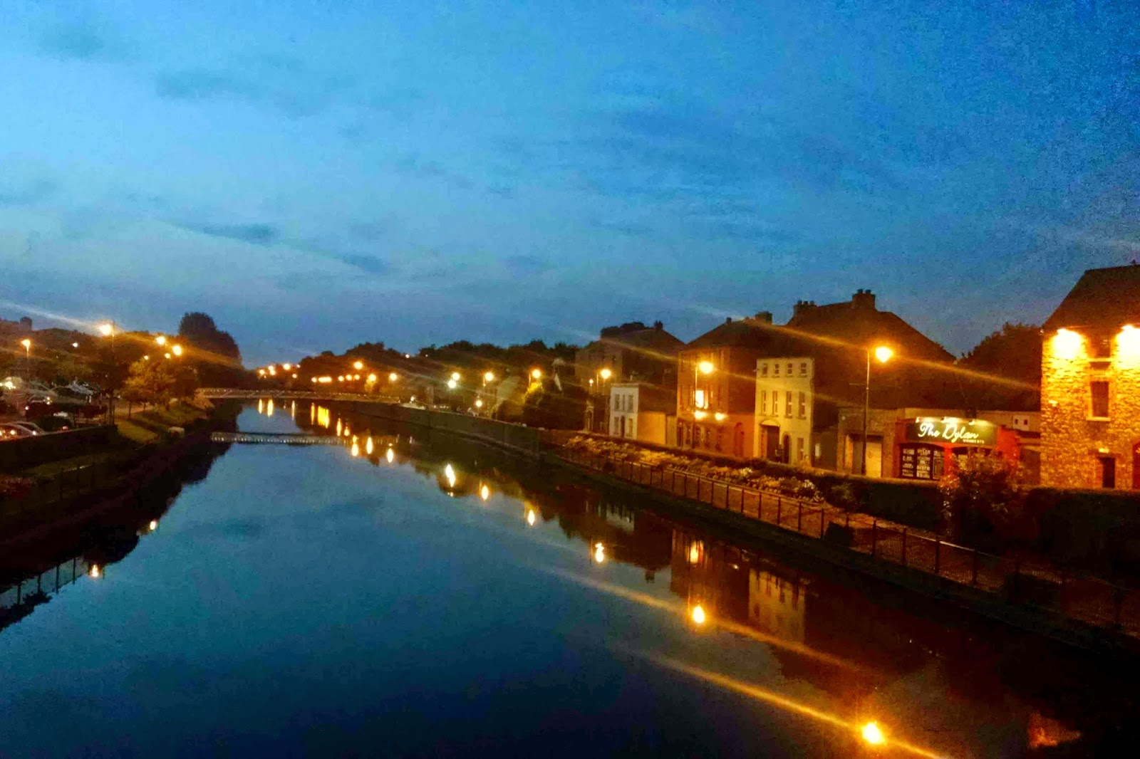 dusk over river nore in kilkenny