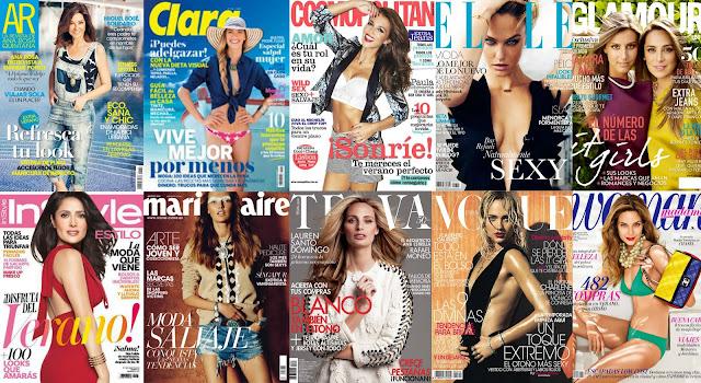 Revistas femeninas agosto 2013