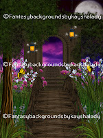 Secret garden digital fantasy backgrounds