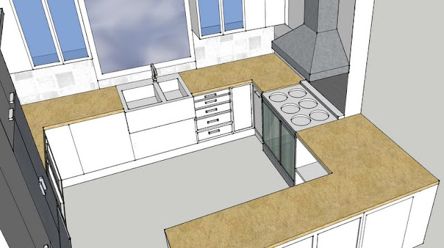 how to design a french kitchen on a budget with google sketch up