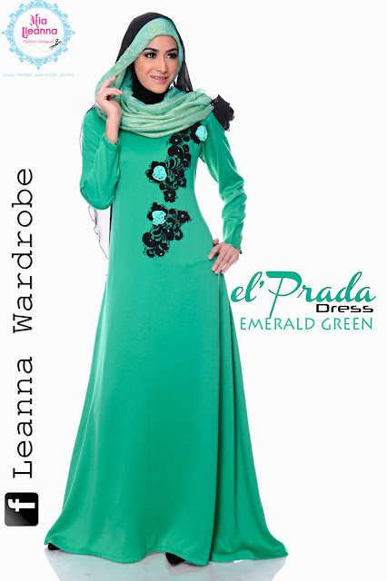 el'Prada Dress -Emerald Green