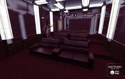 download daz3d software for free daz 3d private art deco cinema. Black Bedroom Furniture Sets. Home Design Ideas