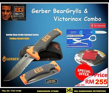 Great Saver!! Save $$$ When you bought Bear Grylls Folding Sheath Knife & Victorinox Swiss Card