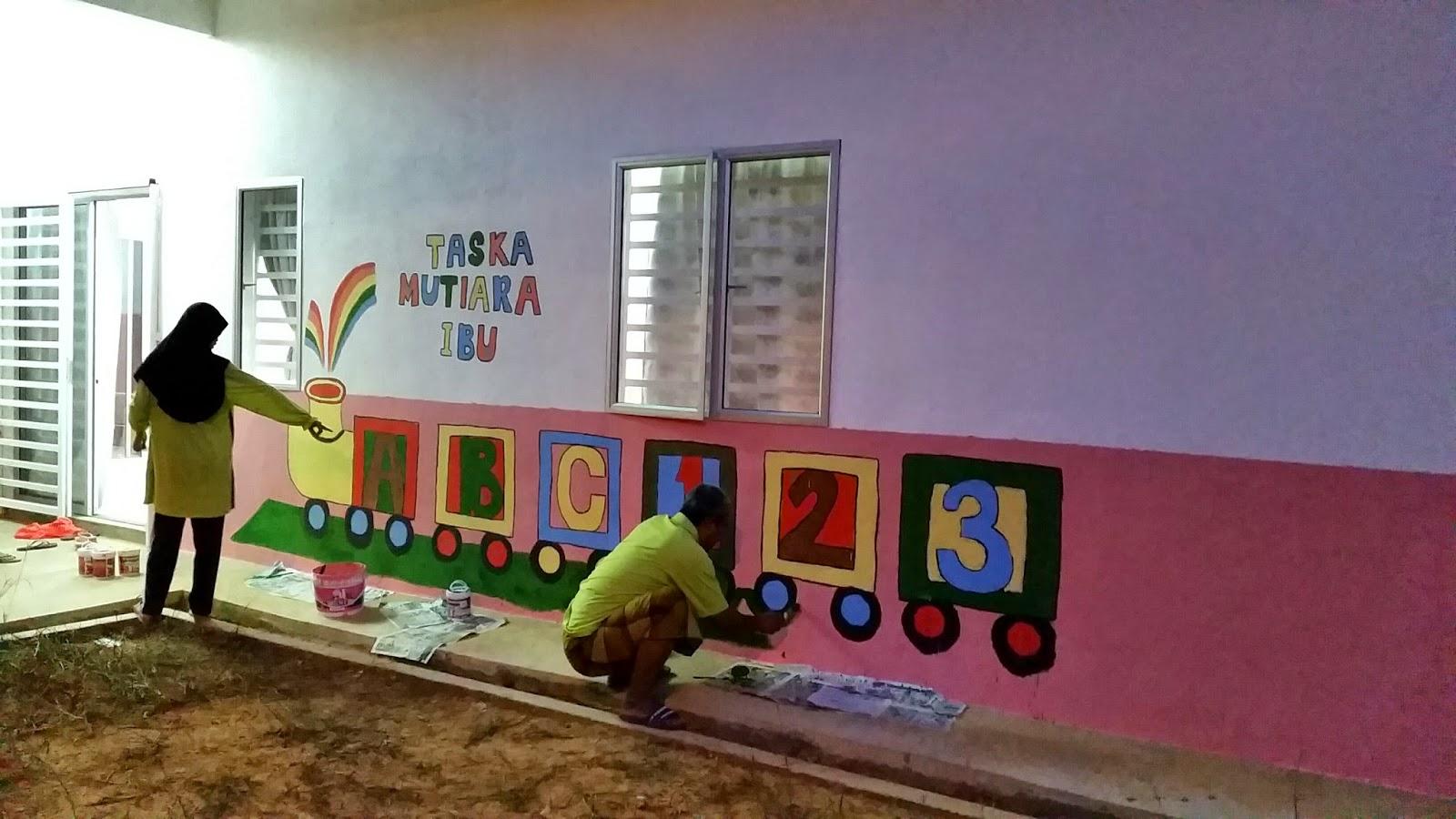 Bermula ceritaku projek melukis mural taska for Mural untuk taska