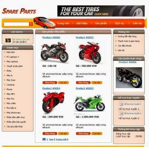 thiết kế website bán hàng xe máy giá rẻ