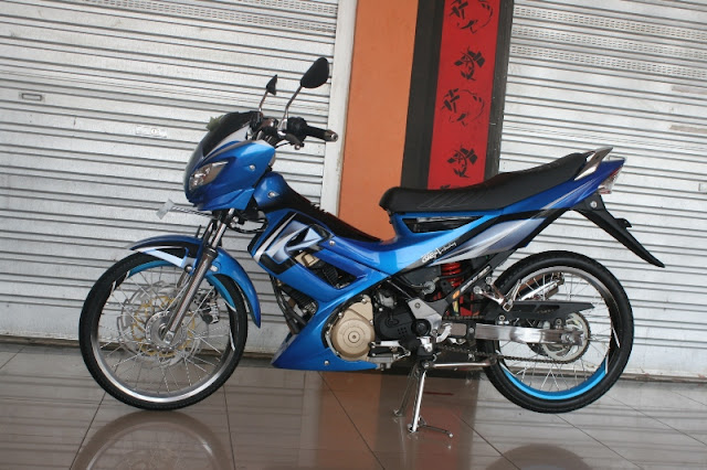 Pin Striping Duo Tone Satria Fu 150 title=