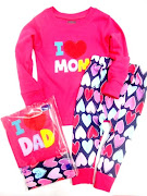 April ~6 New Gap Pajamas Emb I Love Mom /Dad ~ Ready Stock