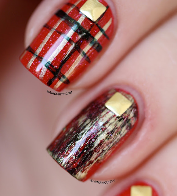 Manicurity | piCture pOlish #ManiMonday x The Digit-al Dozen: O'Hara - Swatches, Review, and Punky Holiday Nail Art