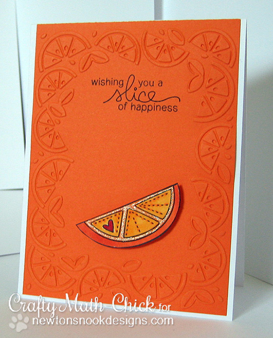 Orange slice card by Crafty Math-Chick for Newton's Nook Designs | Sweet Summer Stamp set
