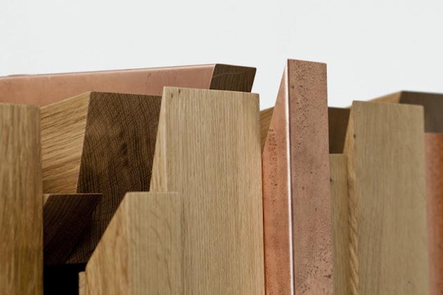 Mueble de madera y cobre espacios en madera - Lacar un mueble de madera ...