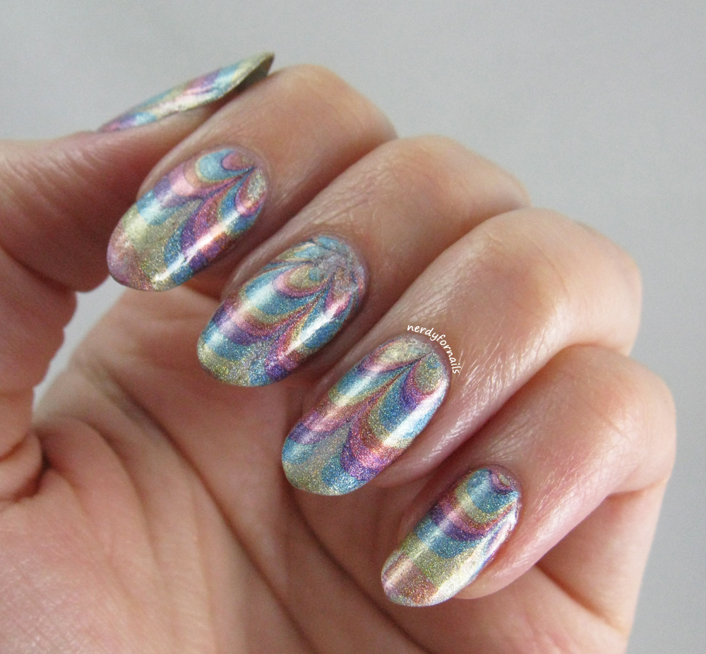 Nerdy for Nails: Water Marble Decal Tutorial