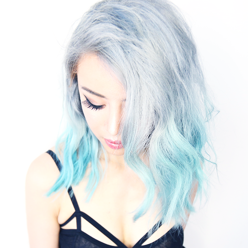 Silver Ombre Hair From Blue Remove Hair Color In 1 Wash