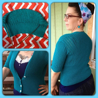VIntage Knits She Knits in Pearls