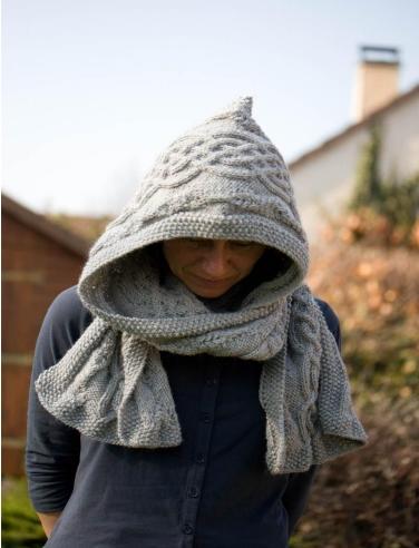 mes favoris tricot crochet mod le tricot gratuit une charpe capuche. Black Bedroom Furniture Sets. Home Design Ideas