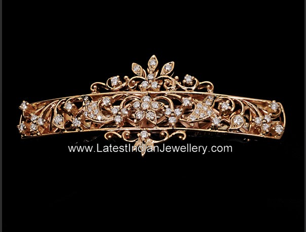 Diamond Gold Hair Clip
