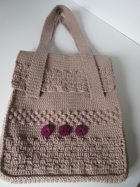 dk cotton crochet bag