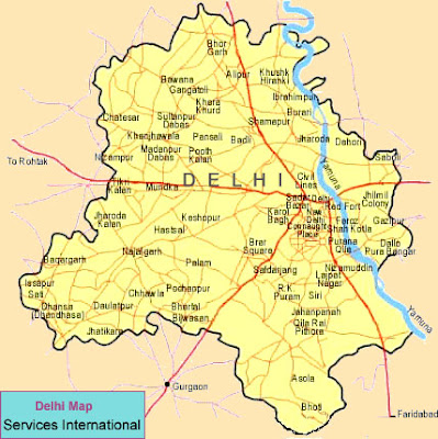 Delhi map for travellers