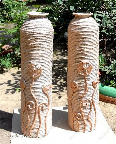 Telhas decoradas com guardanapos patchwork