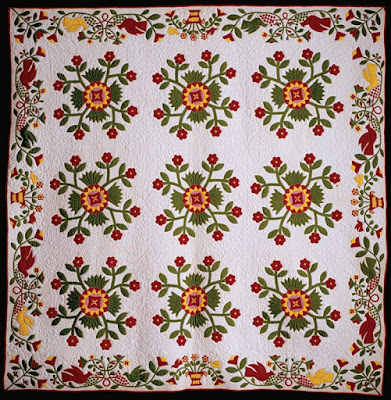 Whig Rose Quilt 1850 Indiana