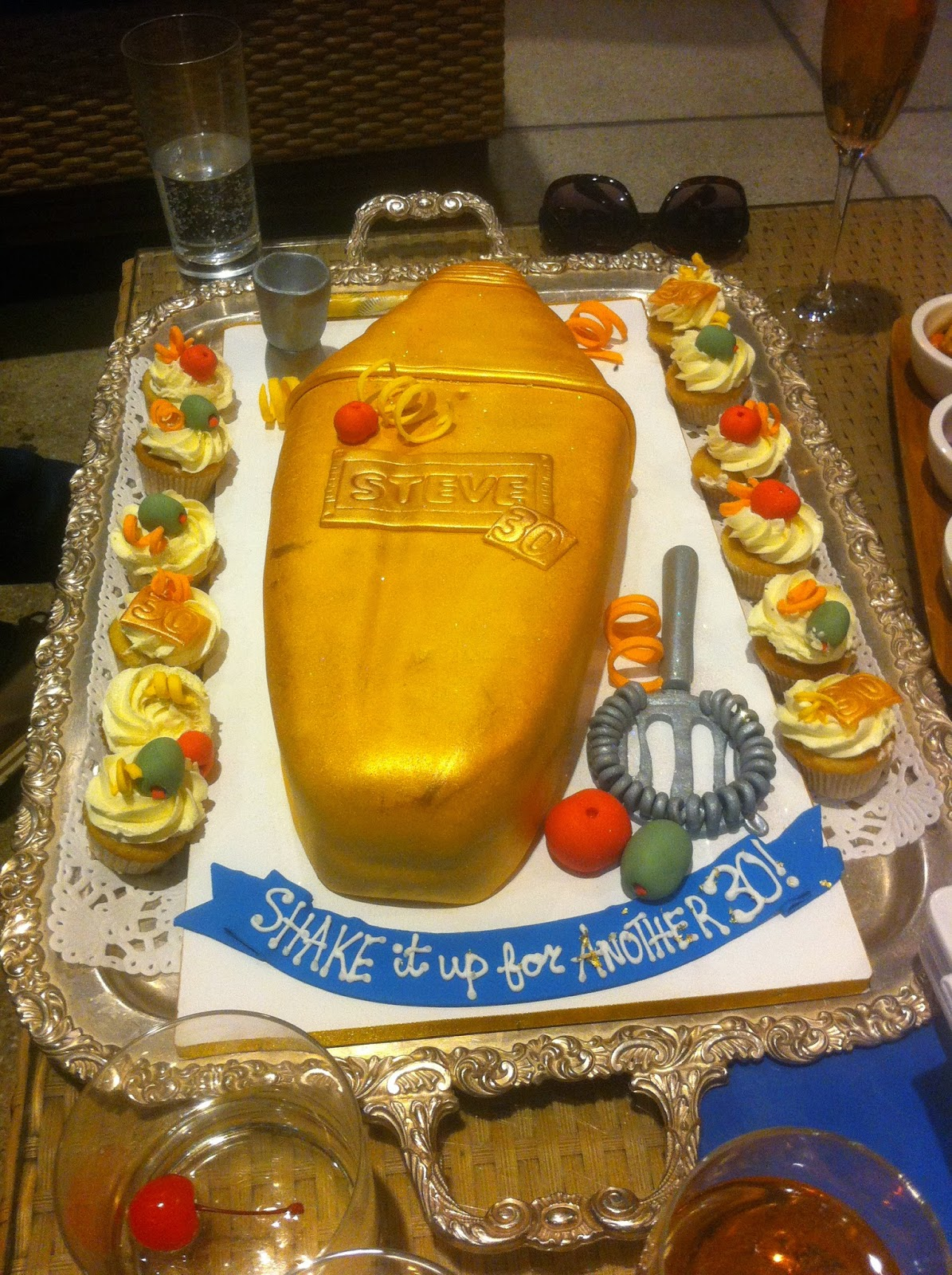 Cake Amsterdam Golden Cocktail Shaker Cake
