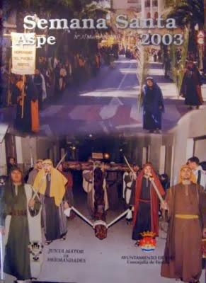 Portada de la Revista de Semana Santa de Aspe 2003