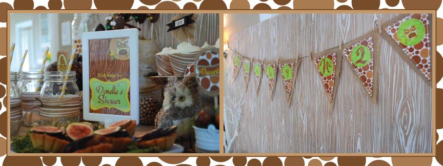 Honeycomb Events Amp Design Rustic Faux Bois Amp Owl Dessert