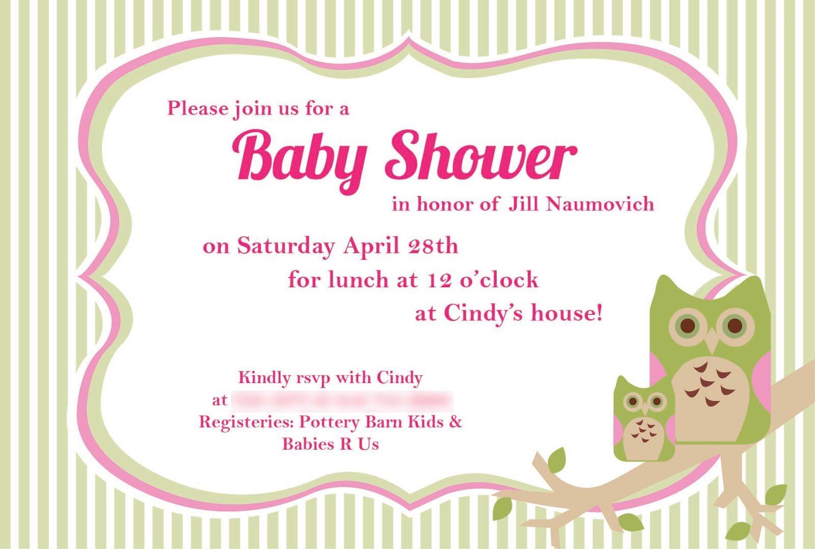 Baby Shower Owl Invites!