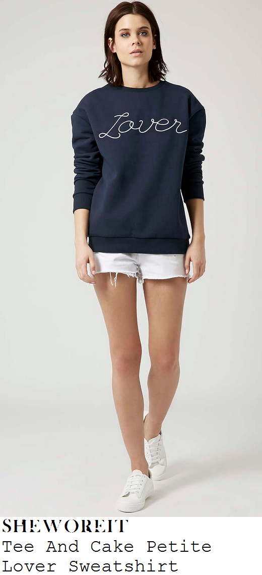 charli-xcx-navy-blue-lover-sweatshirt-jumper-cannes