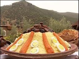 Recettes de cuisine marocaine comme le couscous