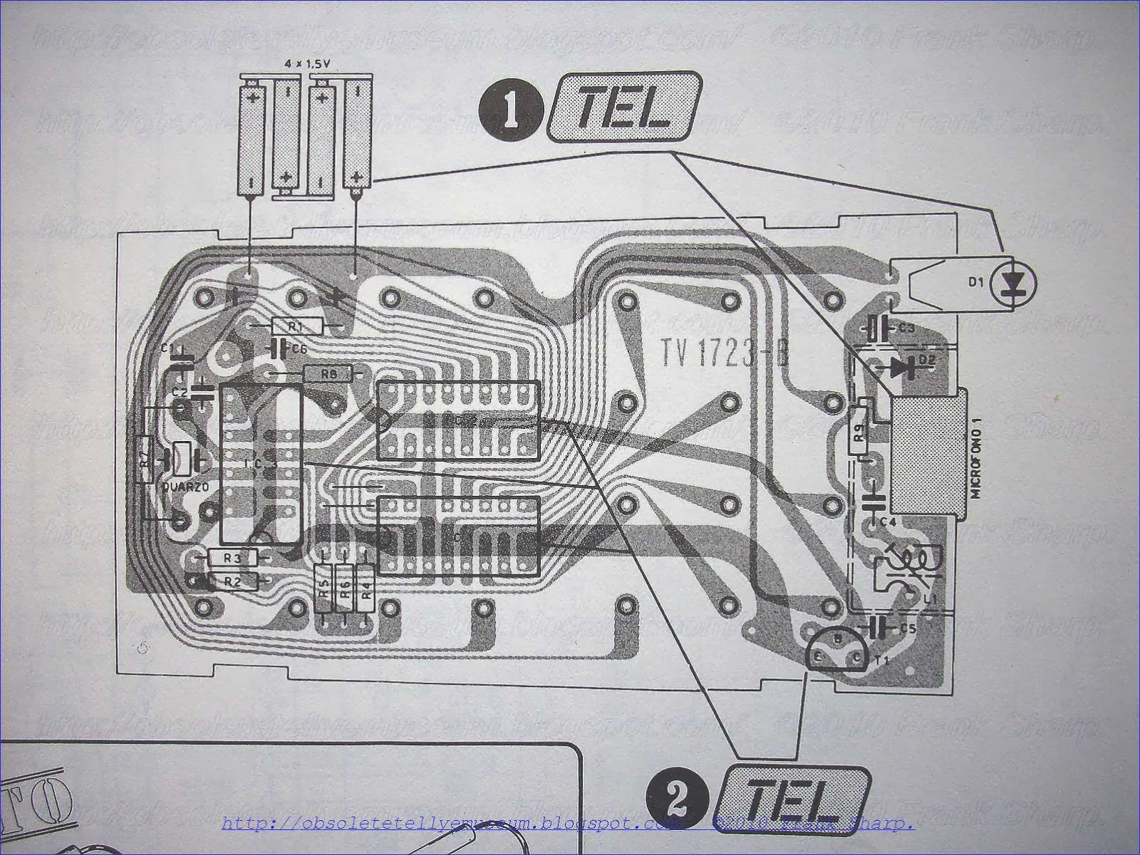 Obsolete Technology Tellye Mivar Radiovar Tv26 T63 Chassis 760 Old Engineering Schematics On A Steel Structure 6 Pcbs Are Composing The Receiver In All Parts Except For Controls Which Located Front Box Tv1899