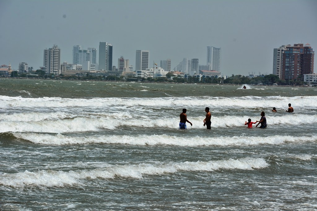 Bocagrande Beach Cartagena waves