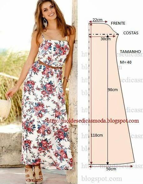 vestidos largos sencillos estampados
