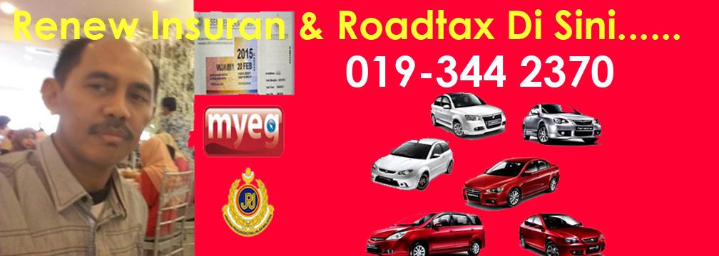 Renew Insuran dan Roadtax TANPA Perlu Keluar Rumah