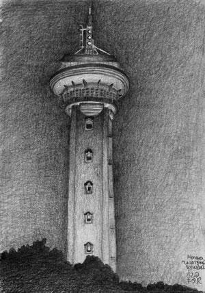Sketsa Menara Asmaul Husna, Masjid Agung Jawa Tengah