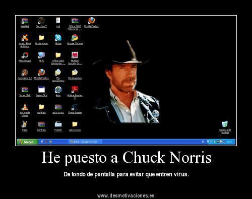 Meme geek de humor con Chuck Norris